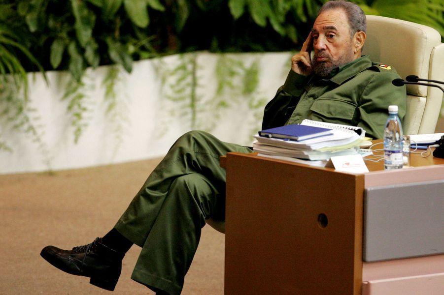 Fidel Castro, photographié en juin 2005.