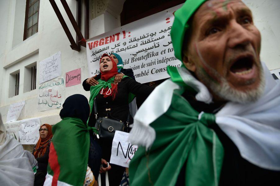 Manifestation à Alger le 19 avril 2019.