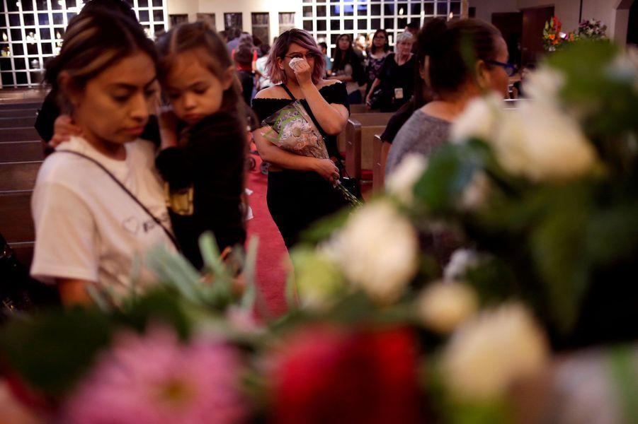 Les funérailles deMargie Reckard, vendredi au Texas