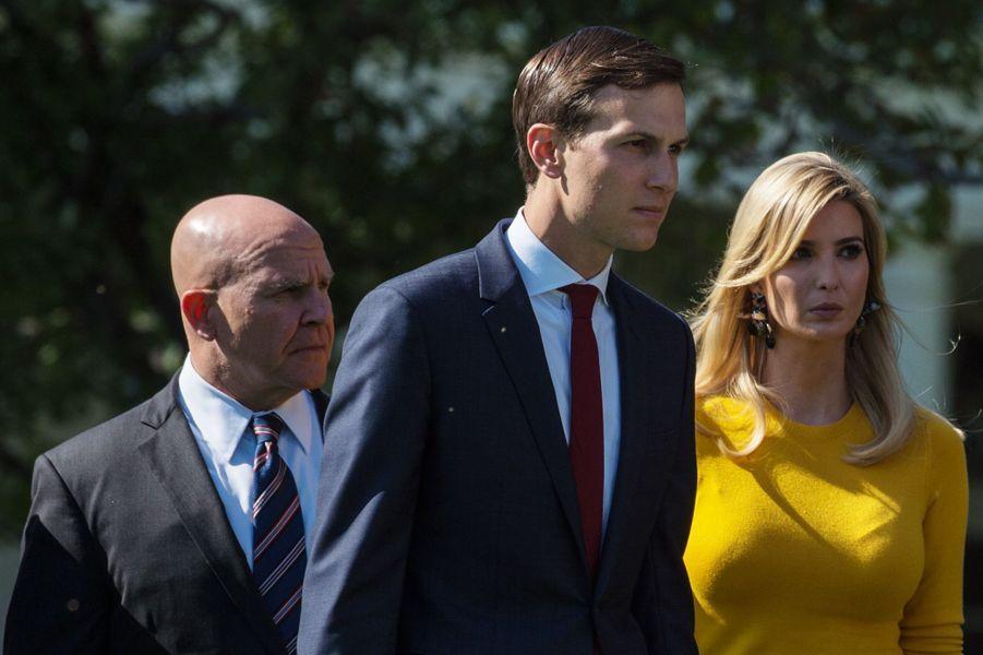 JaredKushner, le gendre de Donald Trump, était présent, aux côtés d'Ivanka Trump.
