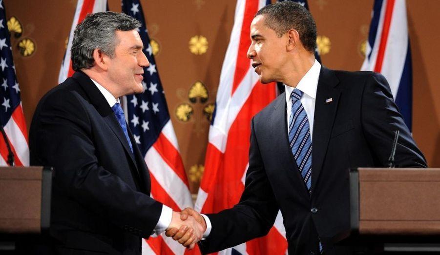 Gordon Brown et Barack Obama