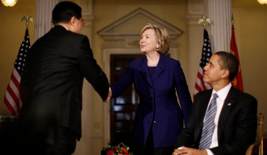Hillary Clinton, Barack Obama et Hu Jintao
