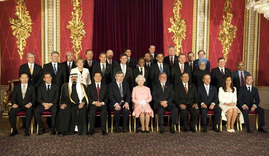 Le G20, autour de la reine Elisabeth