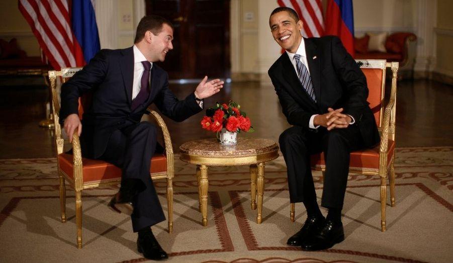 Les présidents russe et américain, Dimitri Medvedev et Barack Obama