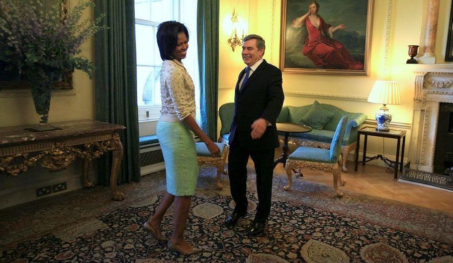 Michelle Obama et Gordon Brown