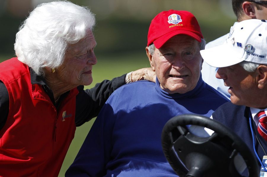 Barbara et George H. W. Bush en septembre 2012
