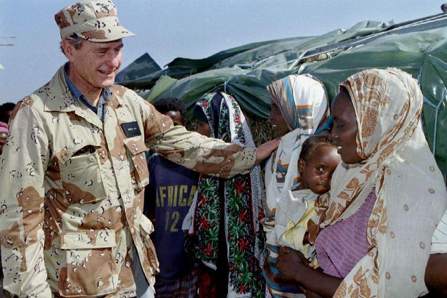 George H. W. Bush en Somalie en janvier 1993