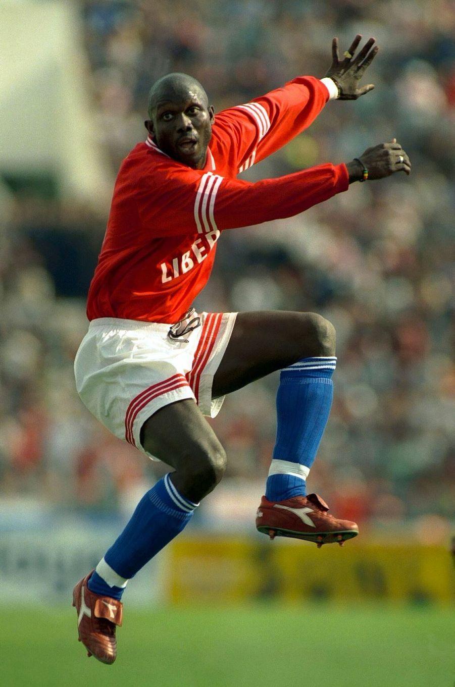 George Weah à l'AC Milan, saison 1996-1997.