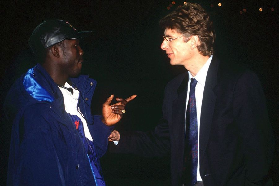 George Weah et Arsene Wenger.