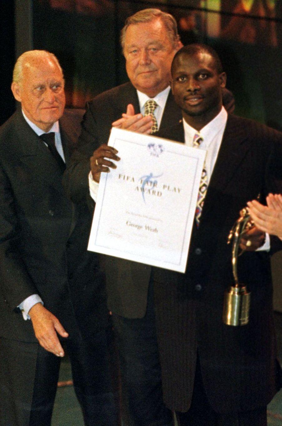 George Weah, en janvier 1997.