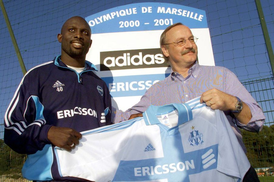 George Weah, en octobre 2000.