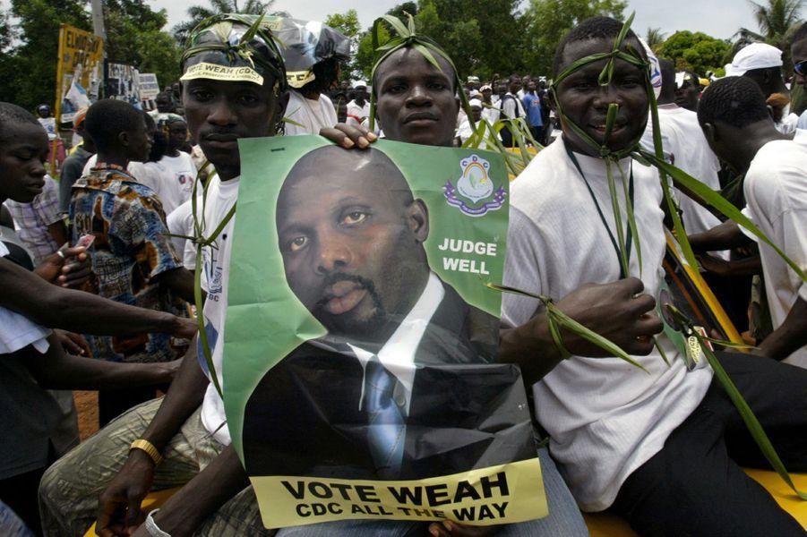 Les partisans de George Weah à Monrovia, en octobre 2005.