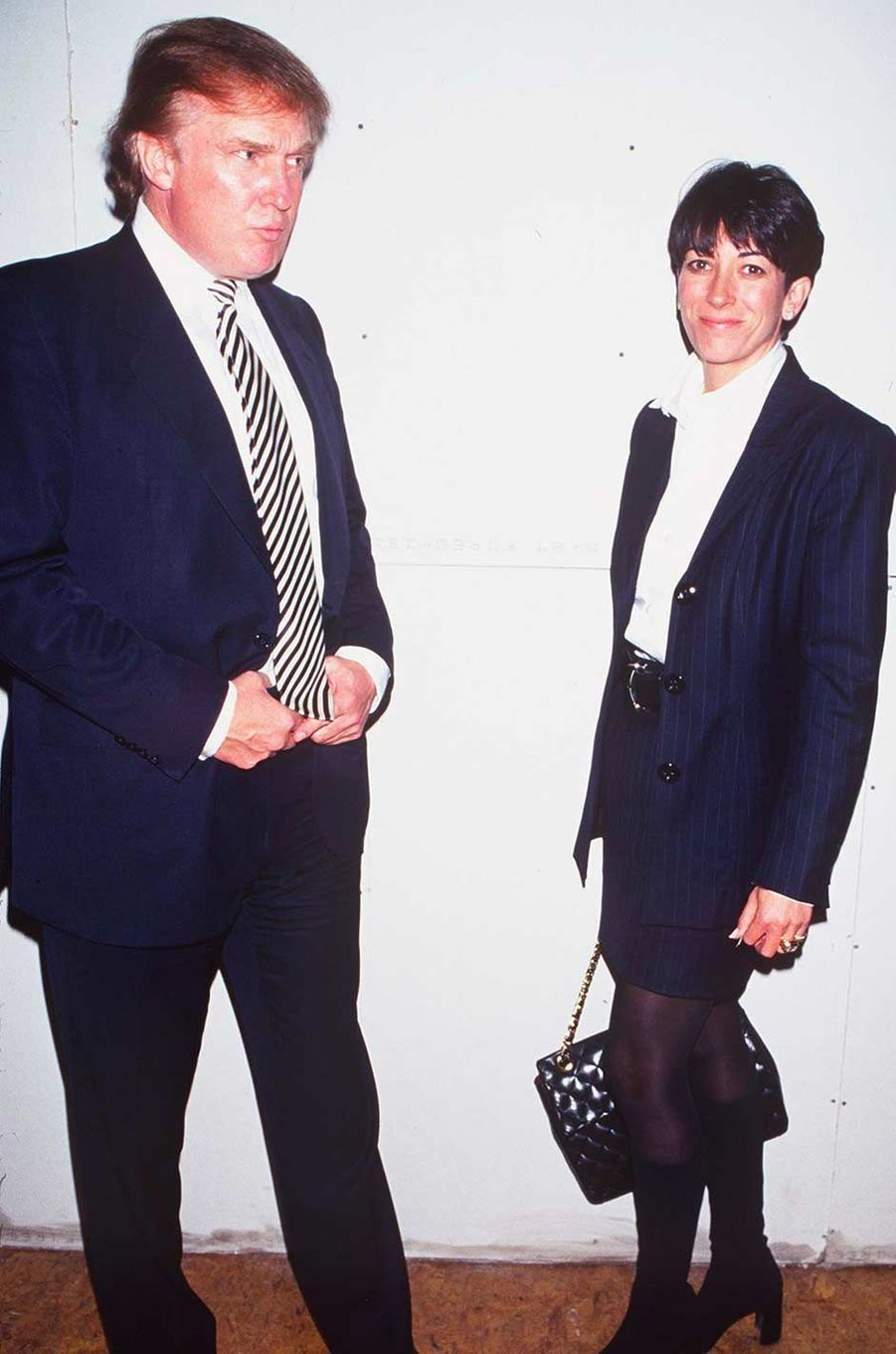 Donald Trump et Ghislaine Maxwell à New York, en octobre 1997.