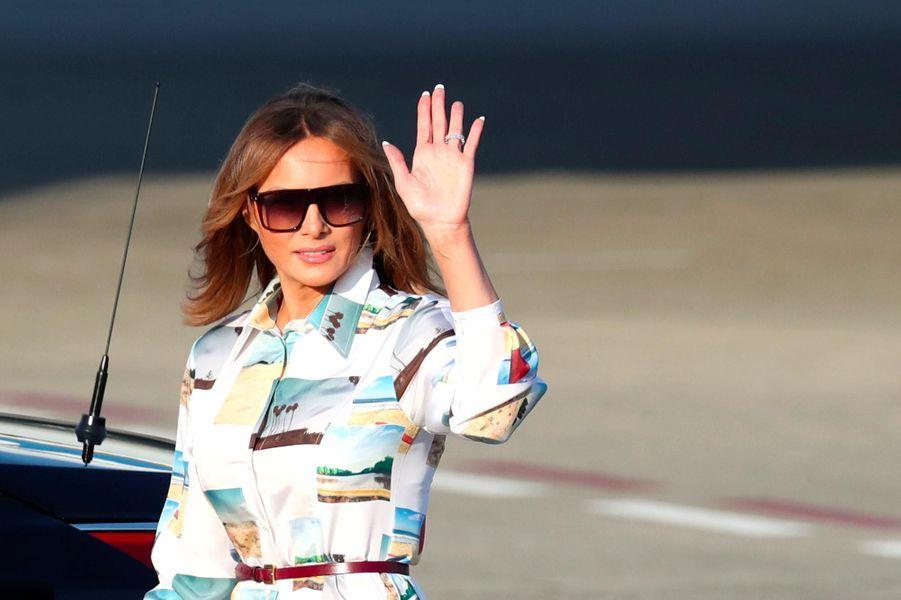 Melania Trump arrivant à Tokyo, le 25 mai 2019.