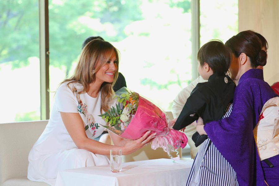 Melania Trump et Akie Abe à Tokyo, le 27 mai 2019.