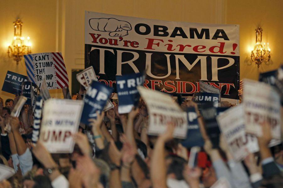 Meeting de Donald Trump auTrump National Doral, en octobre 2015.