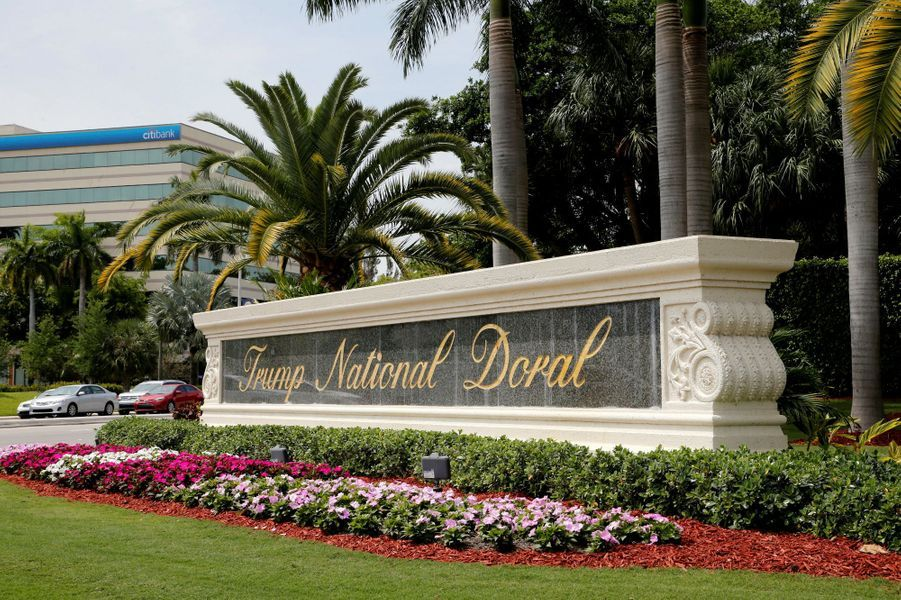 L'entrée duTrump National Doral.