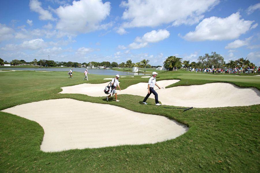 Lors duCadillac Championship de golf au Trump National Doral, en mars 2015.