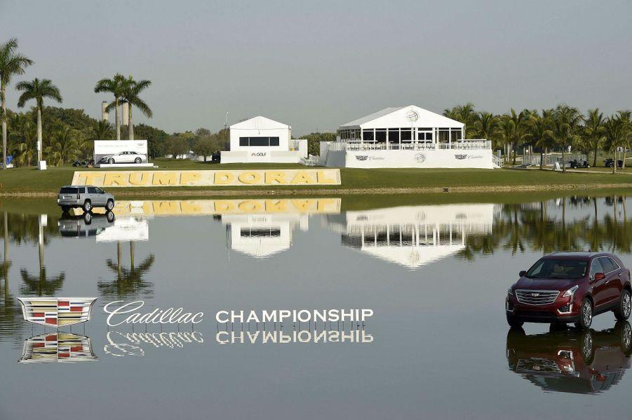 Au sein du Trump National Doral pour le Cadillac Championship de golf, en mars 2016.