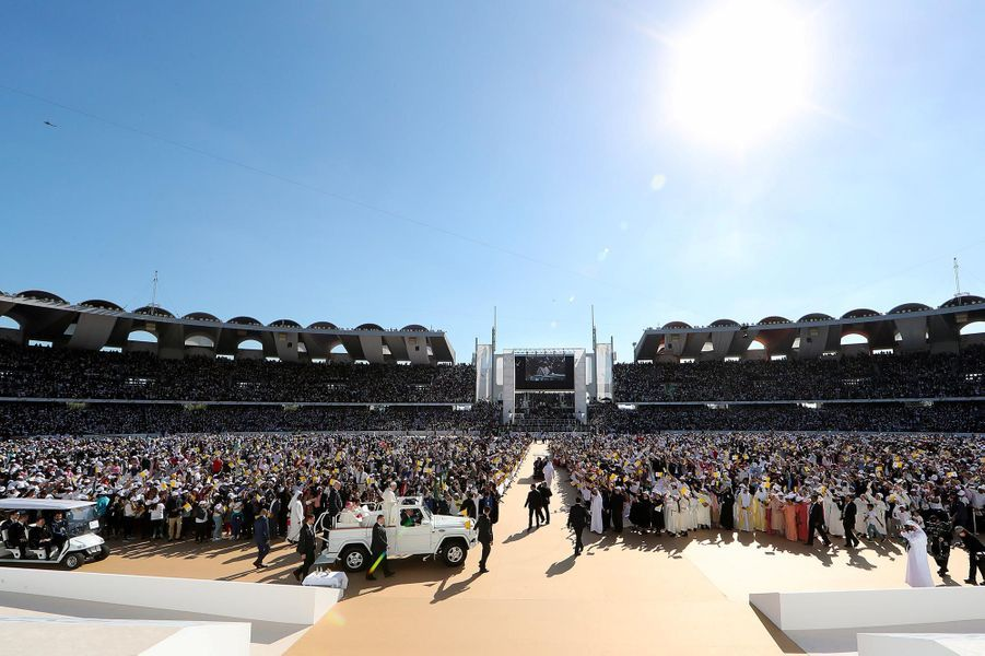Le pape François a prononcé une grande messe en plein air àAbou Dhabi, le 5 février 2019.