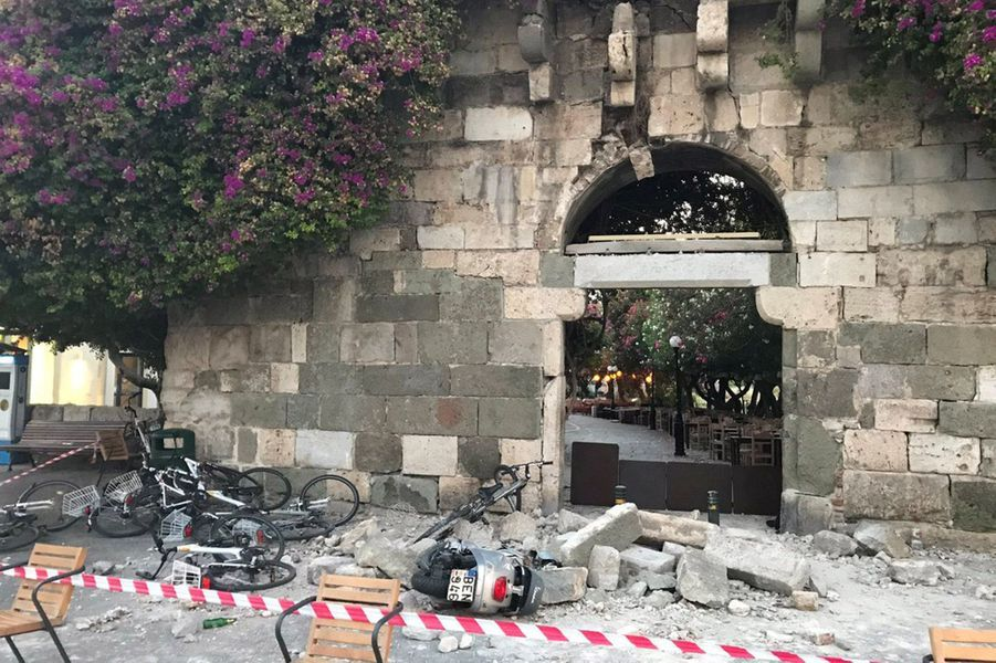 Le séisme de magnitude 6,7 a fait de nombreux dégâts sur l'île de Kos