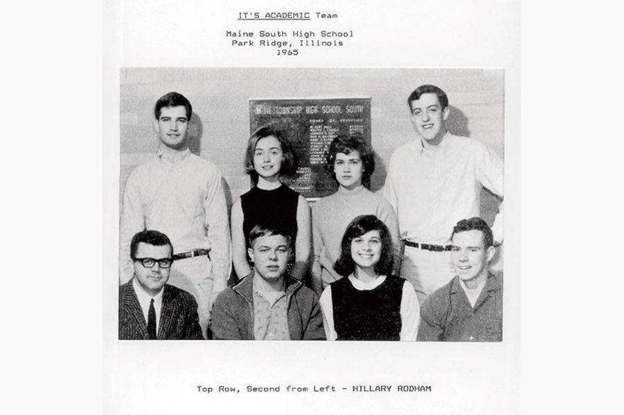 Hillary Clinton lycéenne, en 1965(photo partagée sur son compte Instagram).