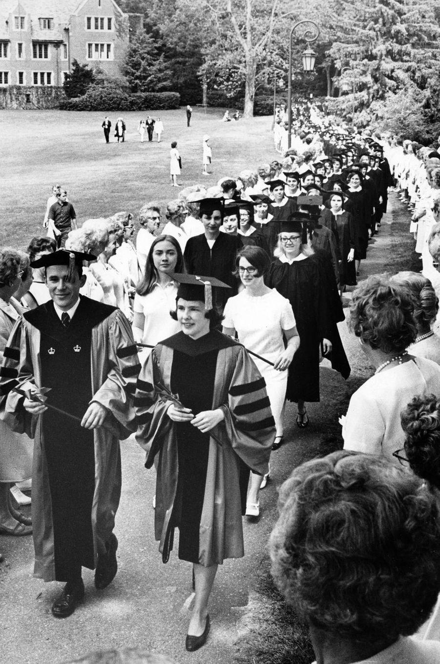 Hillary Clinton étudiante, en 1968.
