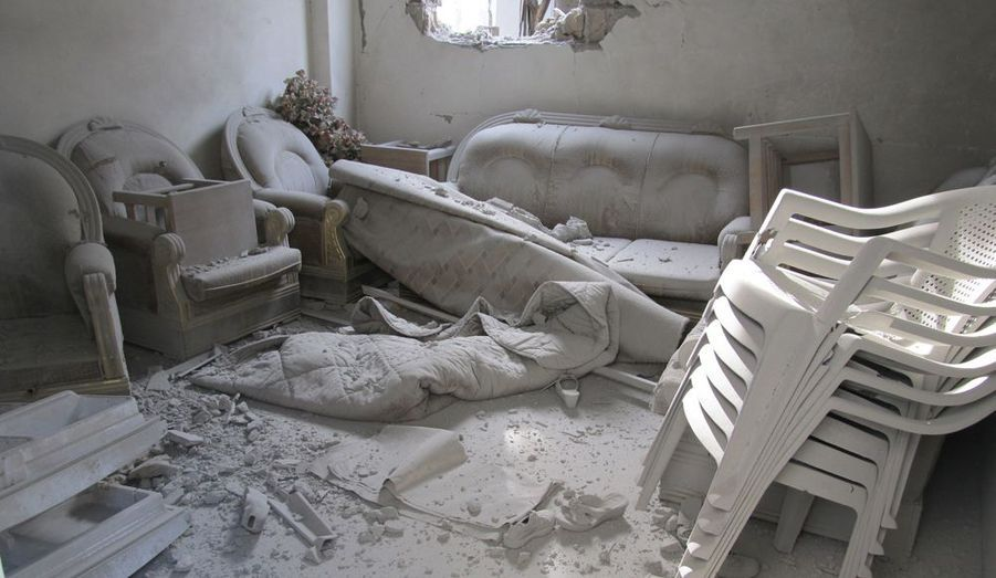 L'intérieur d'une habitation syrienne
