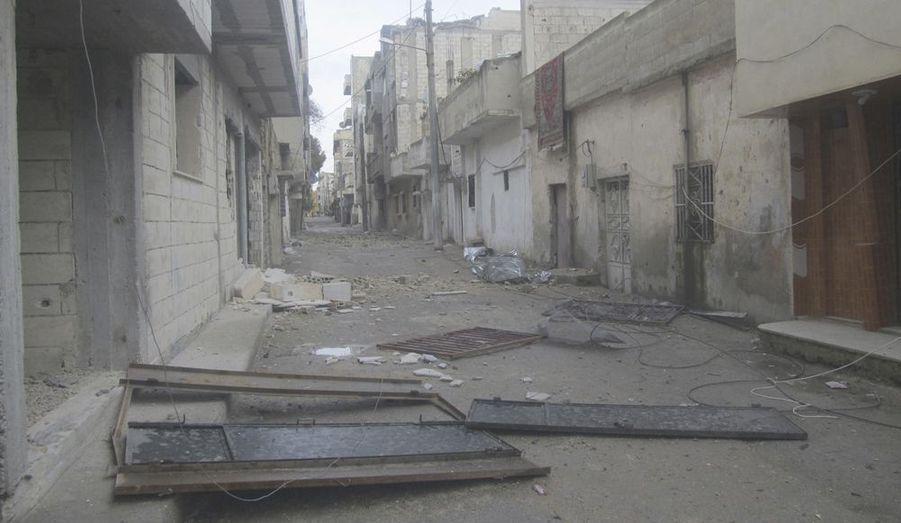 Le quartier sunnite, dans le district de Bab Amro est totalement détruit.