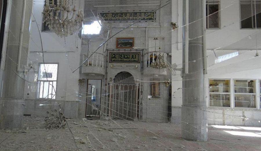 Cette mosquée de la zone de Talbisah, a été totalement détruite après les bombardements du 13 juin 2012.