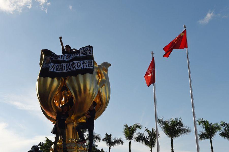 Statue emblématique de Hong Kong, le 28 juin 2017.