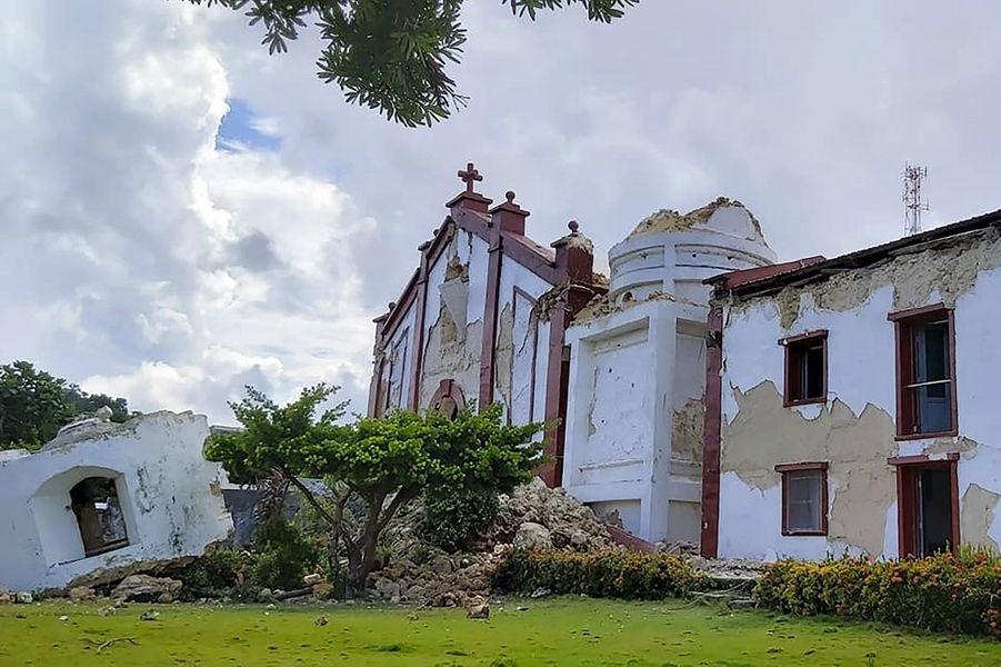 L'église Santa Maria de Mayan, du site touristique d'Itbayat,dans la province de Batanes.