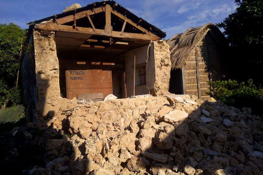 Une maison effondrée àItbayat.