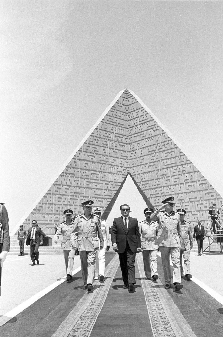 Hosni Moubarak en avril 1986.