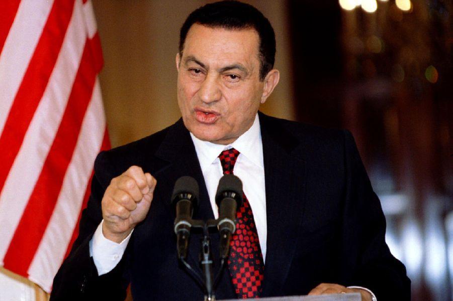 Hosni Moubarak en avril 1995.