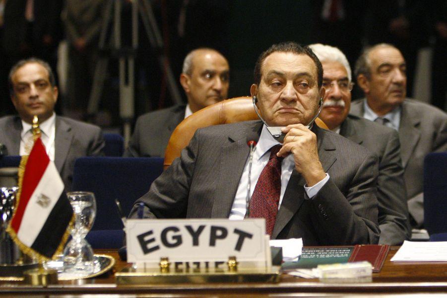 Hosni Moubarak en juillet 2008.