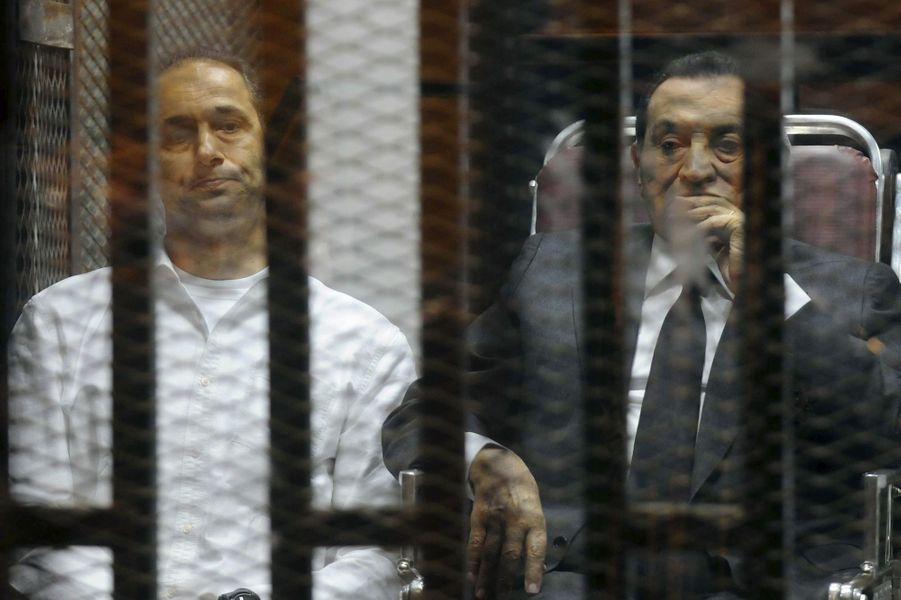 Hosni Moubarak en mai 2014.