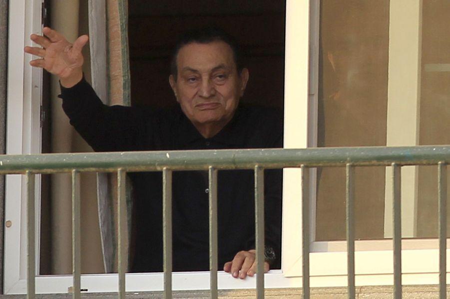 Hosni Moubarak en mai 2015.
