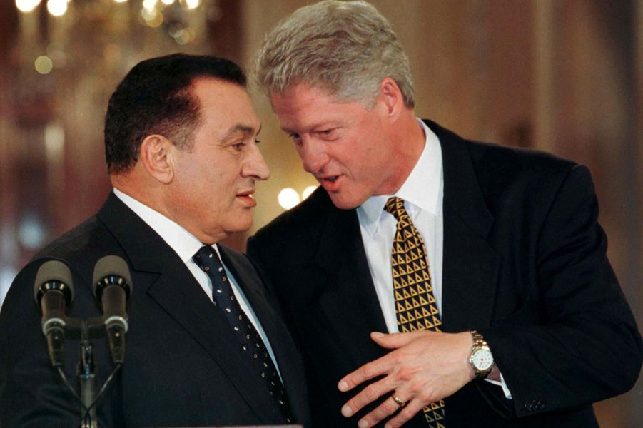 Hosni Moubarak et Bill Clinton en mars 1997.