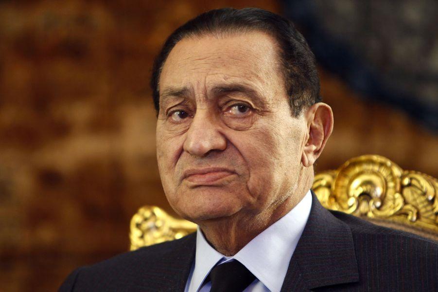 Hosni Moubarak en octobre 2010.