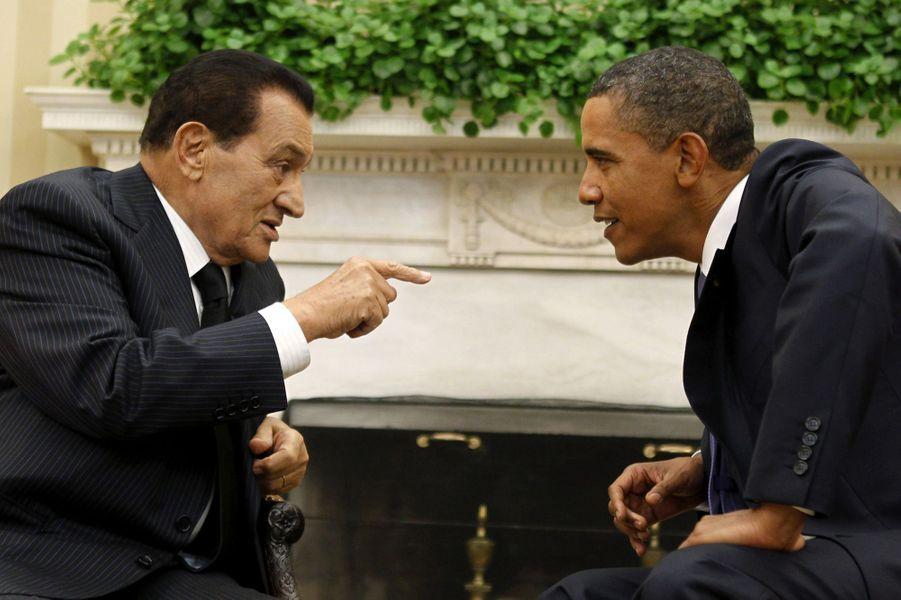 Hosni Moubarak et Barack Obama en septembre 2010.