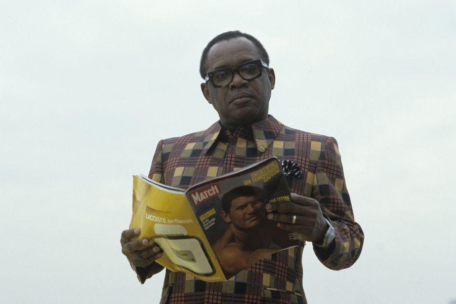 A la suite de la disparition du reporter Philippe de Dieuleveult, le Maréchal Mobutu répond à notre reporter Paris Match, Zaïre, décembre 1985.