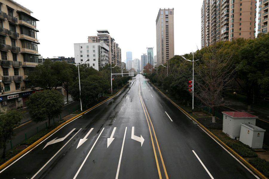 Les rues fantômes de Wuhan, le 26 janvier 2020