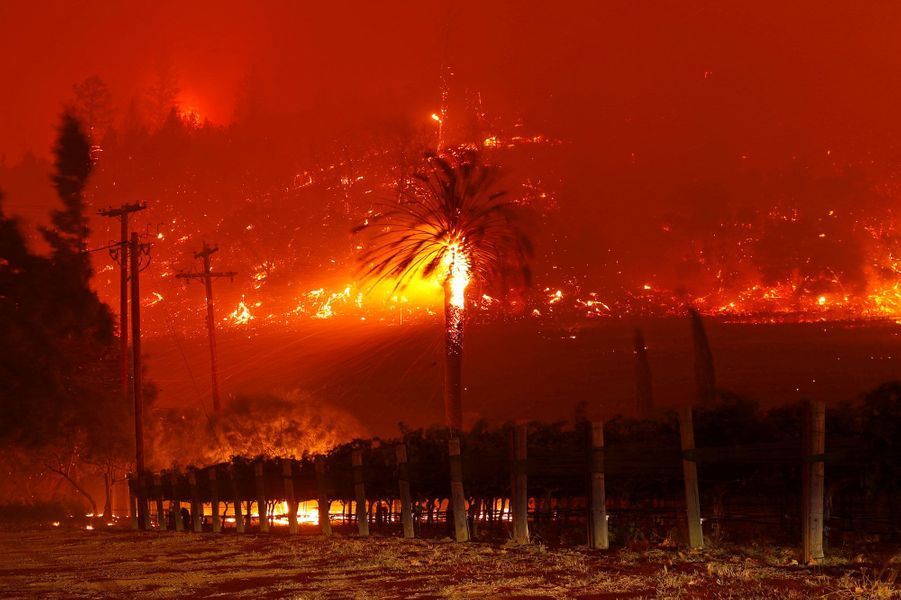 Le Glass Fire, en Californie.
