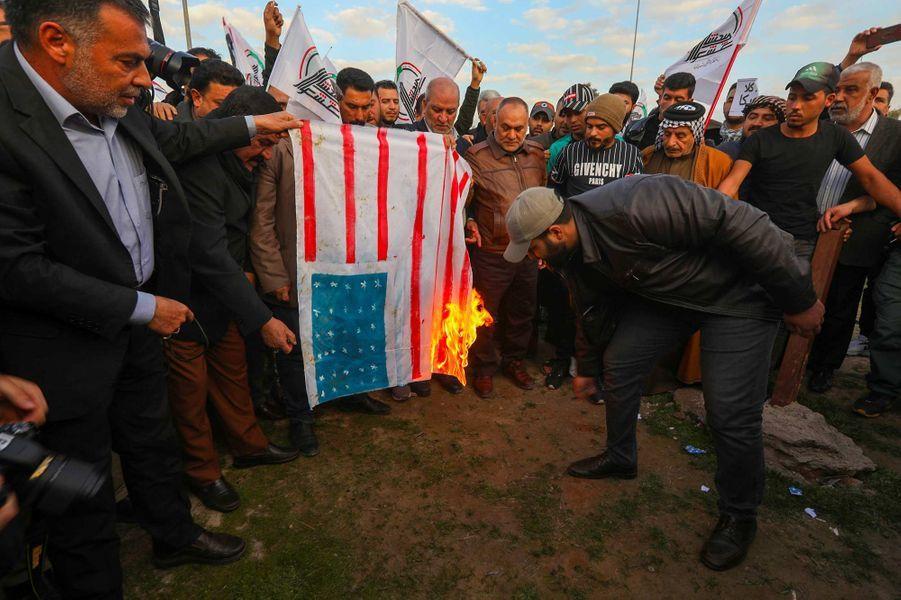 Manifestation à Kirkouk, en Irak, le 30 décembre 2019.