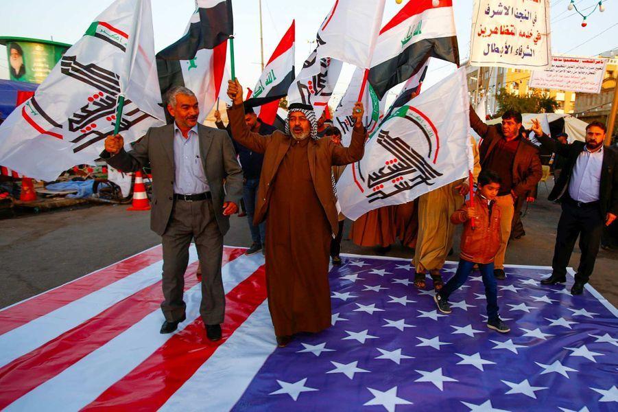 Manifestation à Nadjaf, en Irak, le 30 décembre 2019.