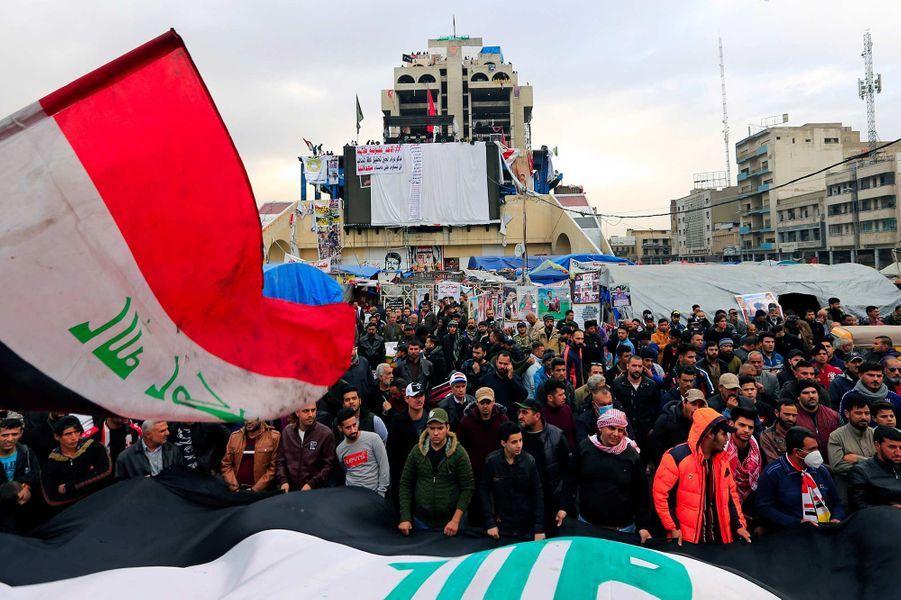Manifestation à Bagdad, en Irak, le 27 décembre 2019.