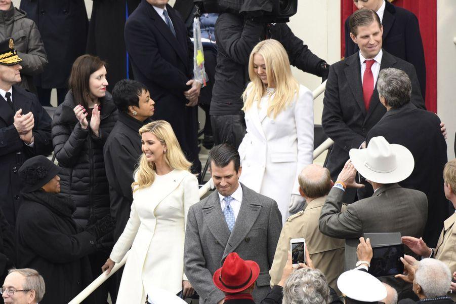 Ivanka, Donald Jr, Tiffany et Eric Trumpà l'investiture de Donald Trump, le 20 janvier 2017.
