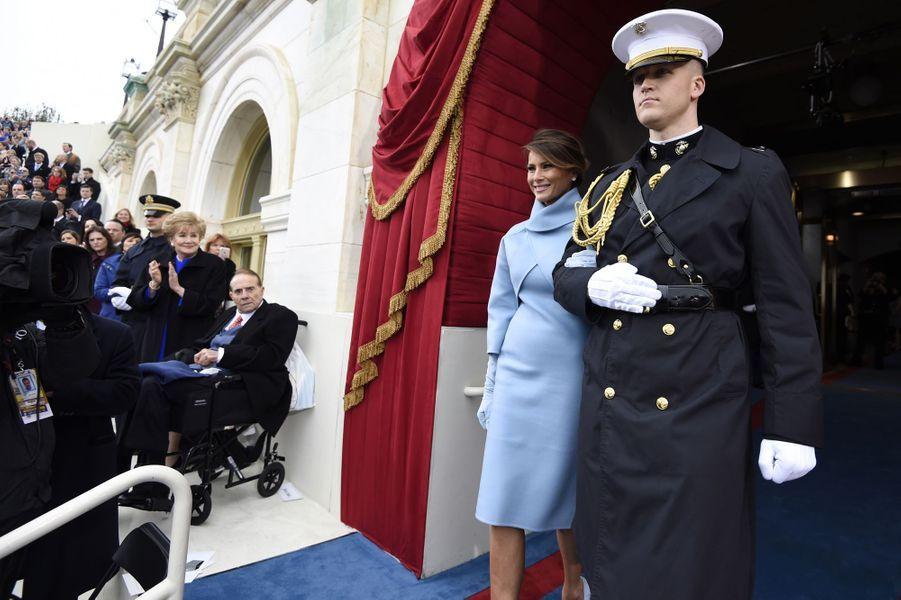Melania Trumpà l'investiture de Donald Trump, le 20 janvier 2017.