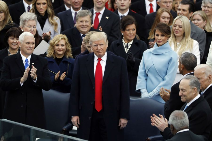 Donald Trumpà son investiture, le 20 janvier 2017.